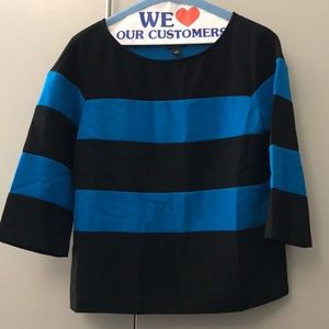 Blue and black striped Ann Taylor shirt